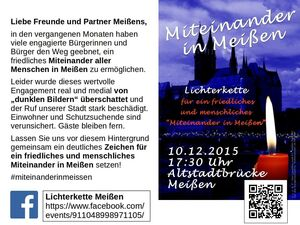 Lichterkette in Mei�en am 10.12.2015